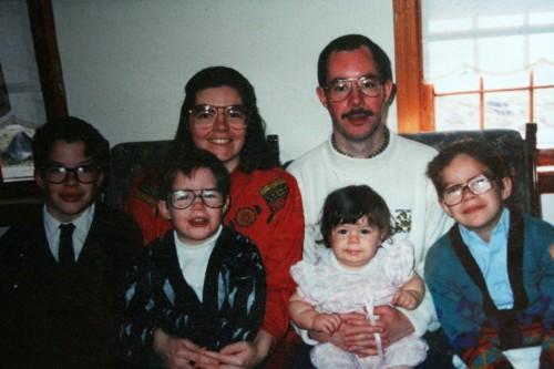 famille lunettes
