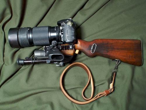 appareil photo fusil