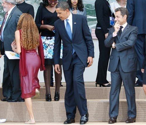 obama sarkozy boule