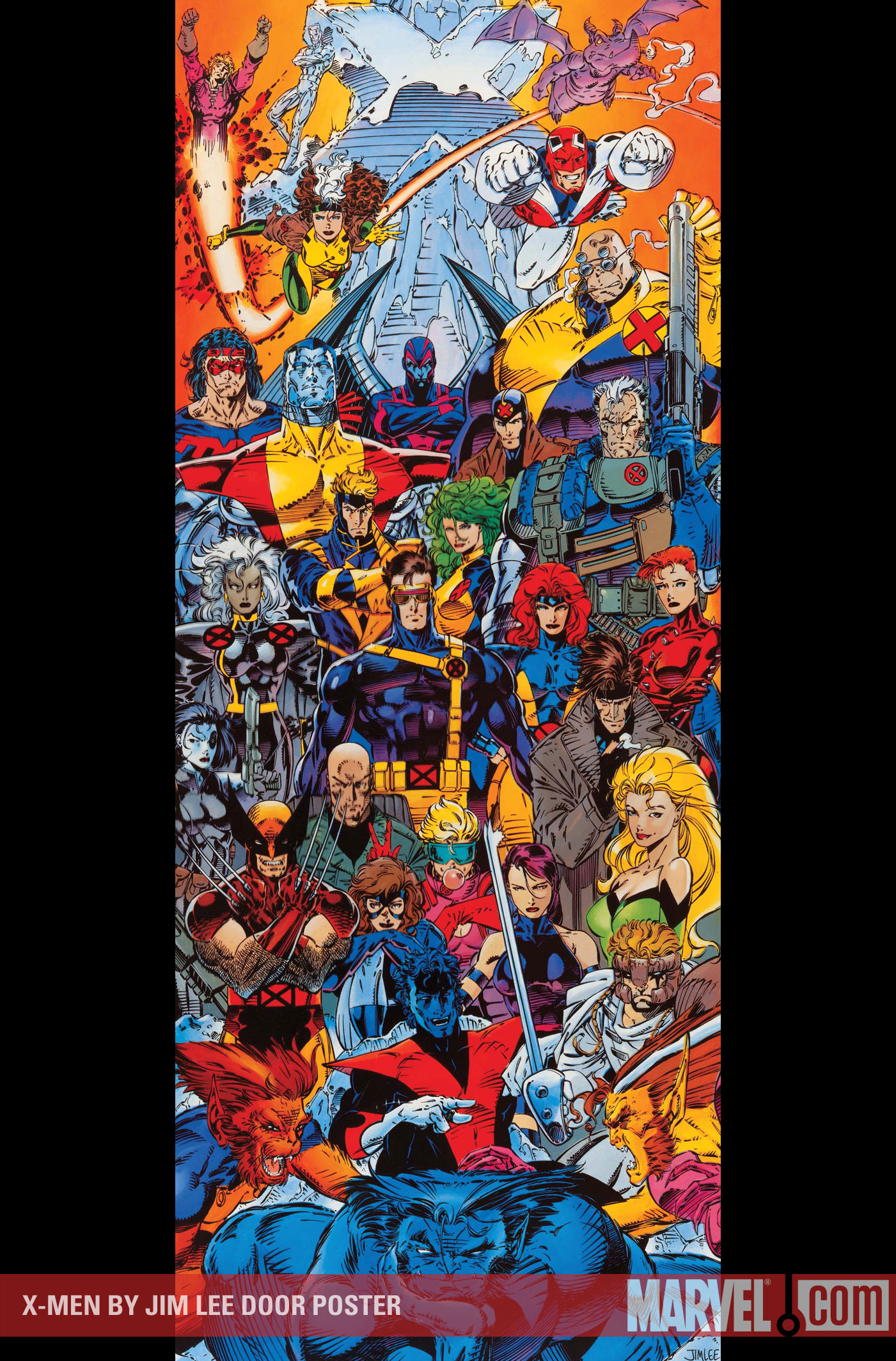xmen jim lee poster