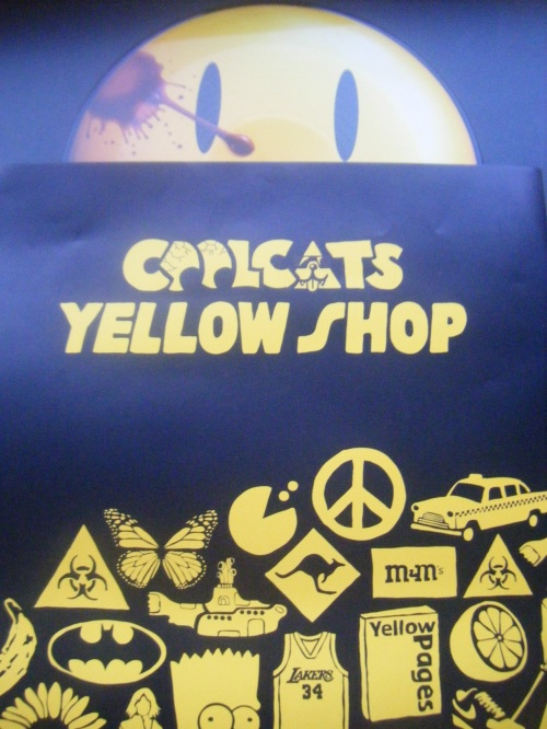 yellow cool cats so me poster