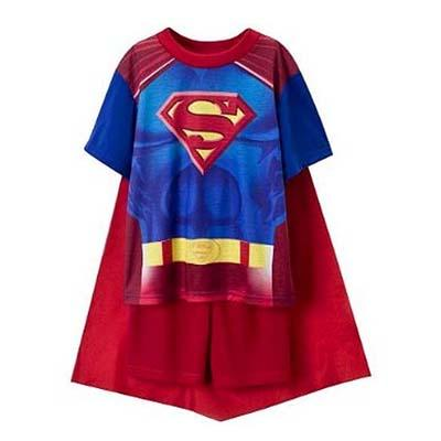 pyjama superman cape